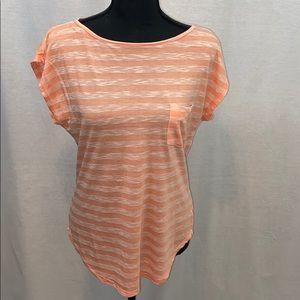 Lightweight striped dolaman shirt sleeve top